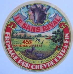 étiquette fromage Availles sur Chizé