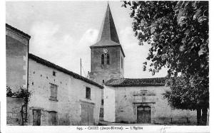 église vue de la place de l'église