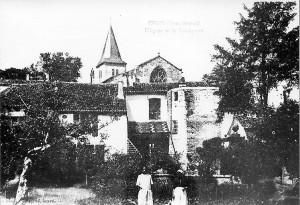 l'église vue du presbytère